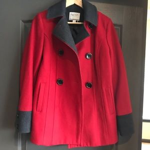Nautica double-breasted wool coat